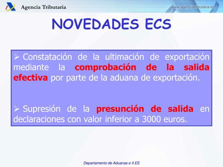 NOVEDADES ECS