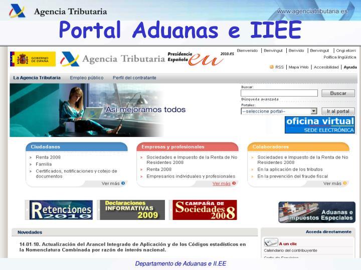 Portal Aduanas e IIEE