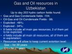 gas and oil resources in uzbekistan