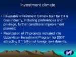 investment climate