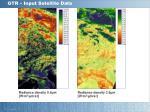 gtr input satellite data