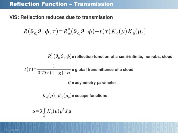 Reflection Function – Transmission