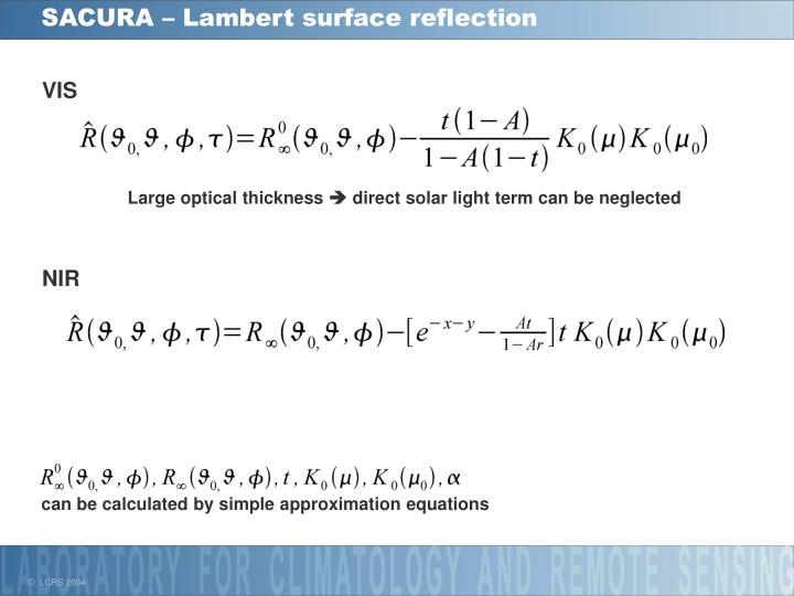 SACURA – Lambert surface reflection
