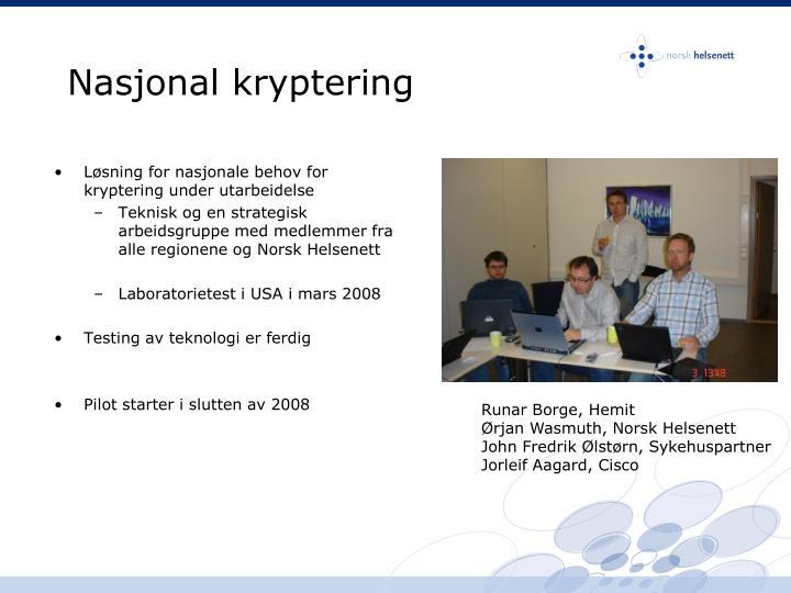 Nasjonal kryptering