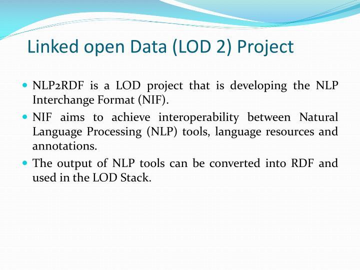 Linked open Data (LOD 2) Project