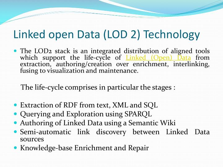 Linked open Data (LOD 2) Technology