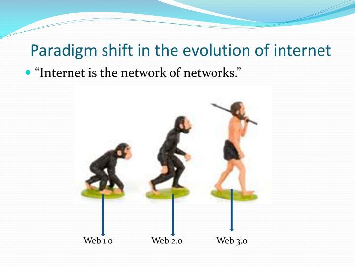 Paradigm shift in the evolution of internet