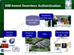 sim based seamless authentication