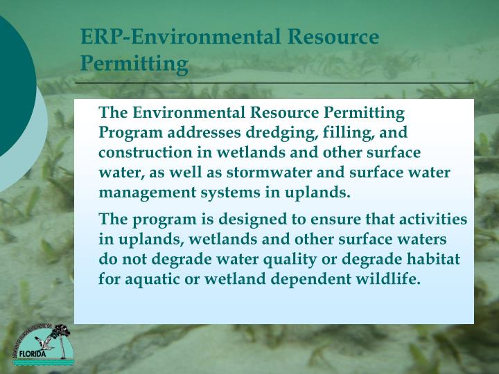 Erp environmental resource permitting