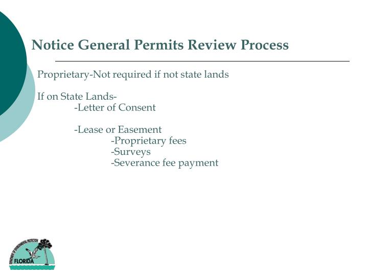 Notice General Permits Review Process