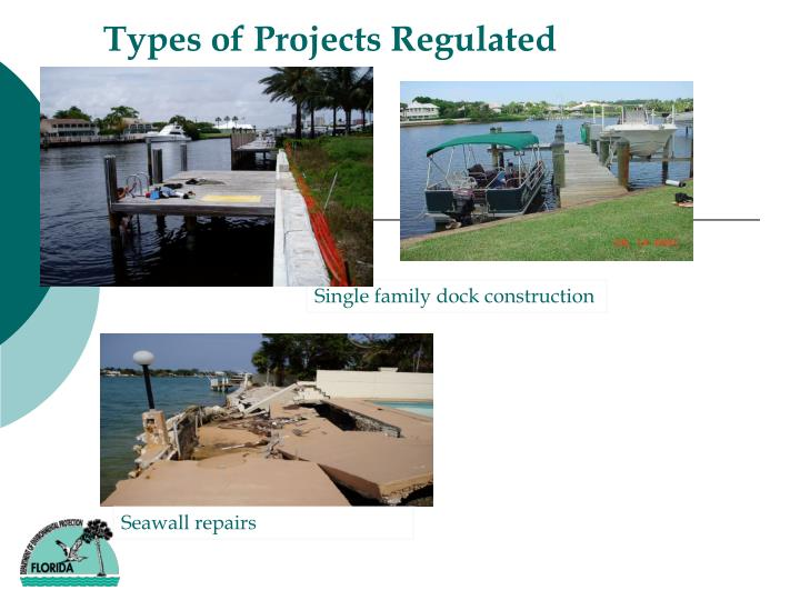Types of Projects Regulated