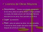 licencia de obras mayores