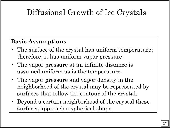 Diffusional Growth of Ice Crystals