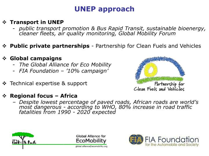 UNEP approach