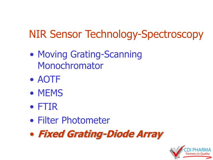 NIR Sensor Technology-Spectroscopy