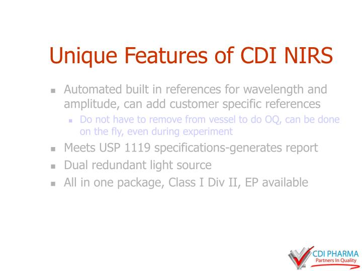 Unique Features of CDI NIRS