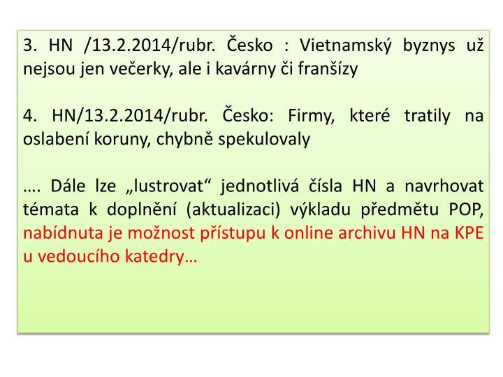 3. HN /13.2.2014/