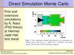 direct simulation monte carlo1