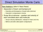 direct simulation monte carlo2