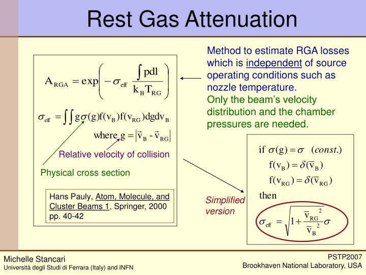 Rest Gas Attenuation