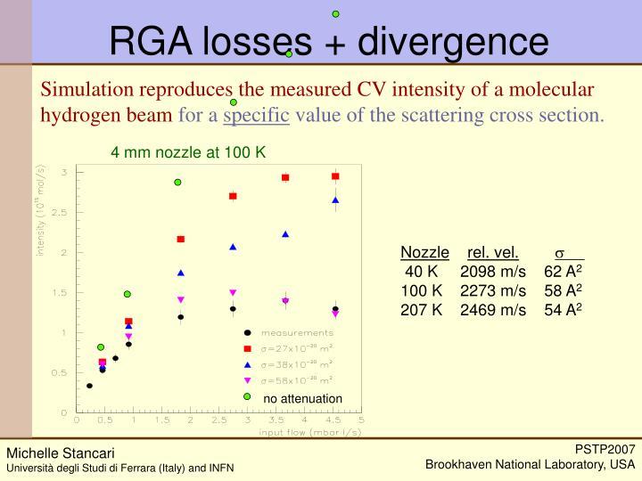 RGA losses + divergence