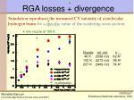 rga losses divergence
