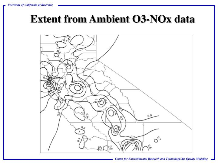 Extent from Ambient O3-NOx data