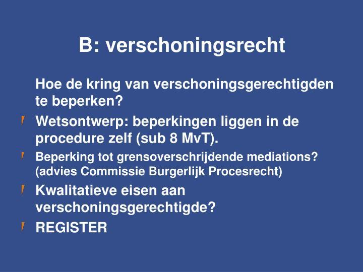 B: verschoningsrecht