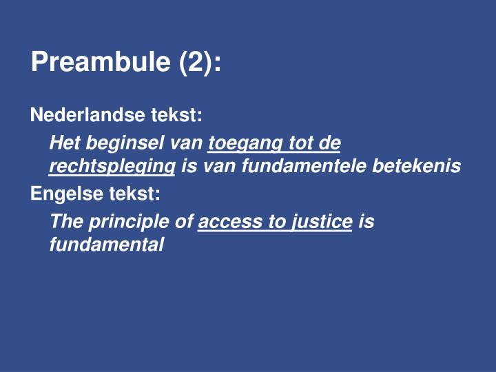 Preambule (2):