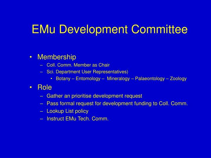 EMu Development Committee