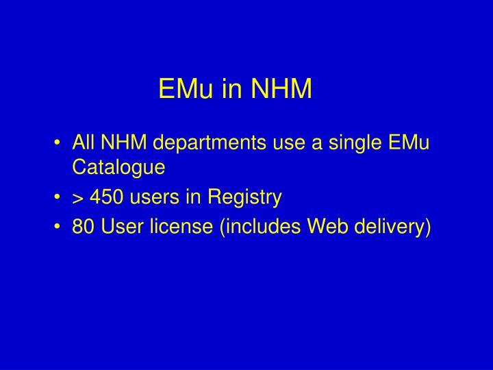 EMu in NHM