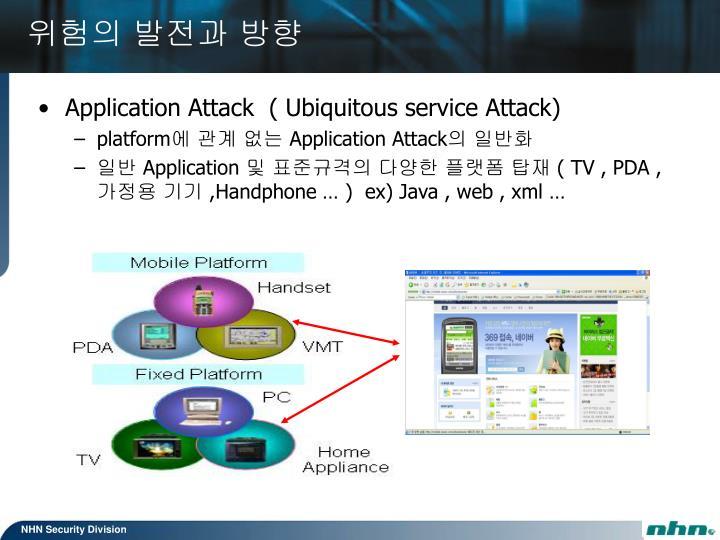 Application Attack  ( Ubiquitous service Attack)