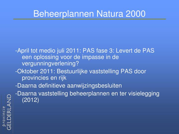 Beheerplannen Natura 2000