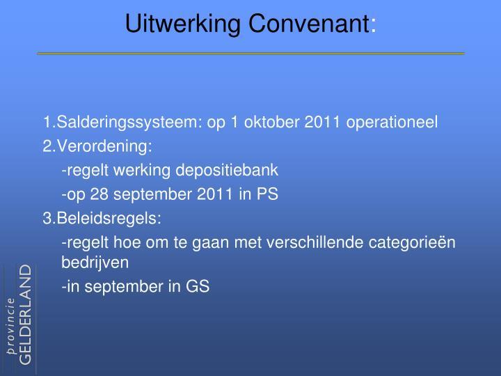 Uitwerking Convenant
