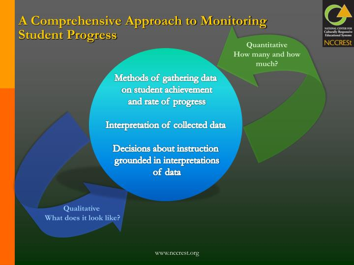 A Comprehensive Approach to Monitoring Student Progress