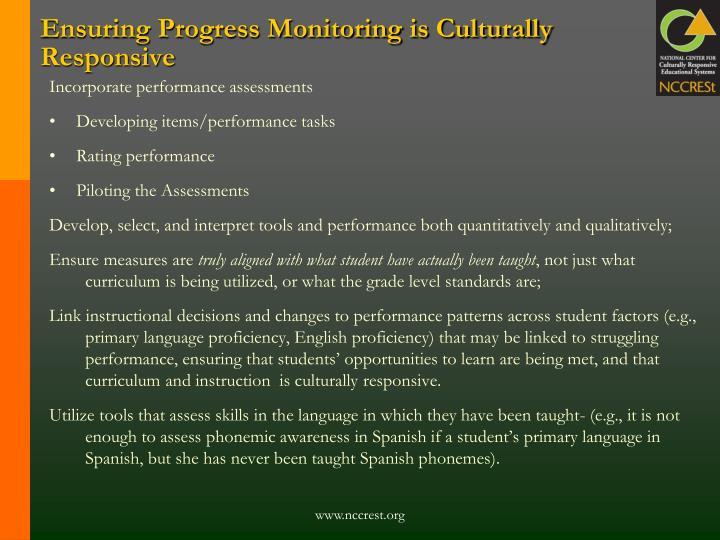 Ensuring Progress Monitoring is Culturally Responsive