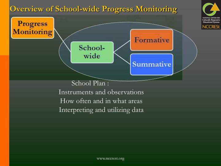 Overview of School-wide Progress Monitoring