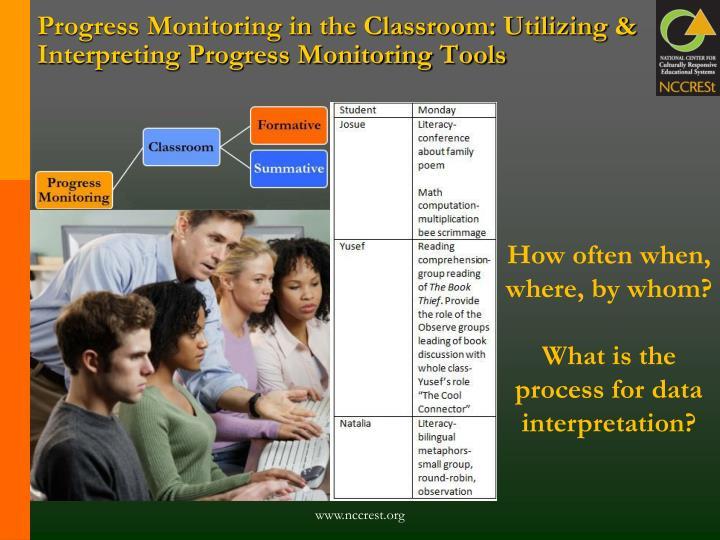 Progress Monitoring in the Classroom: Utilizing & Interpreting Progress Monitoring Tools
