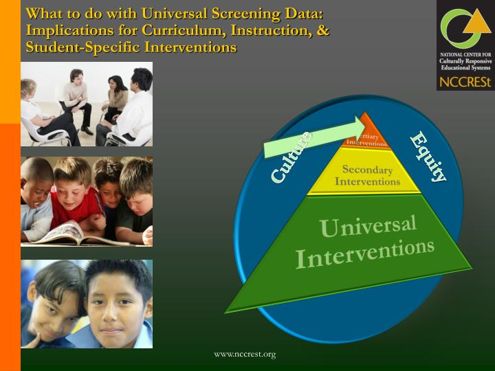 What to do with Universal Screening Data: