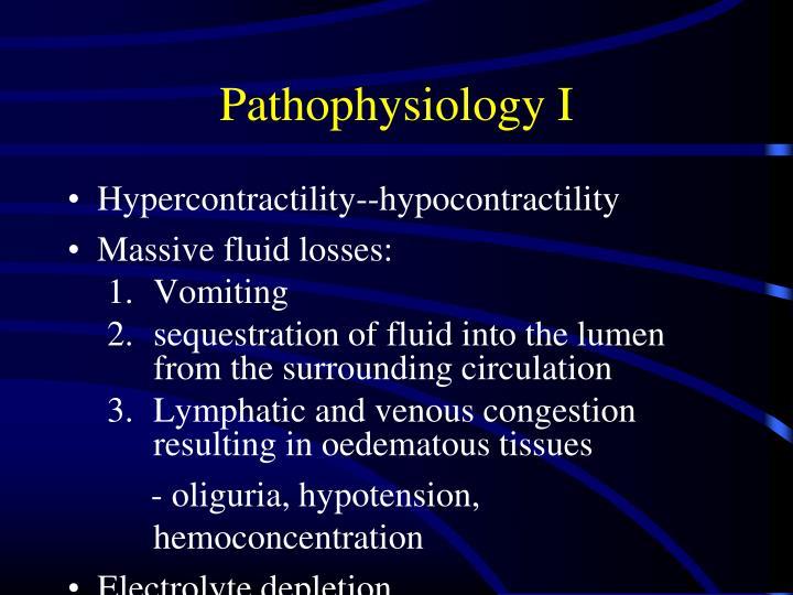 Pathophysiology I