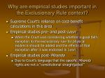why are empirical studies important in the exclusionary rule context
