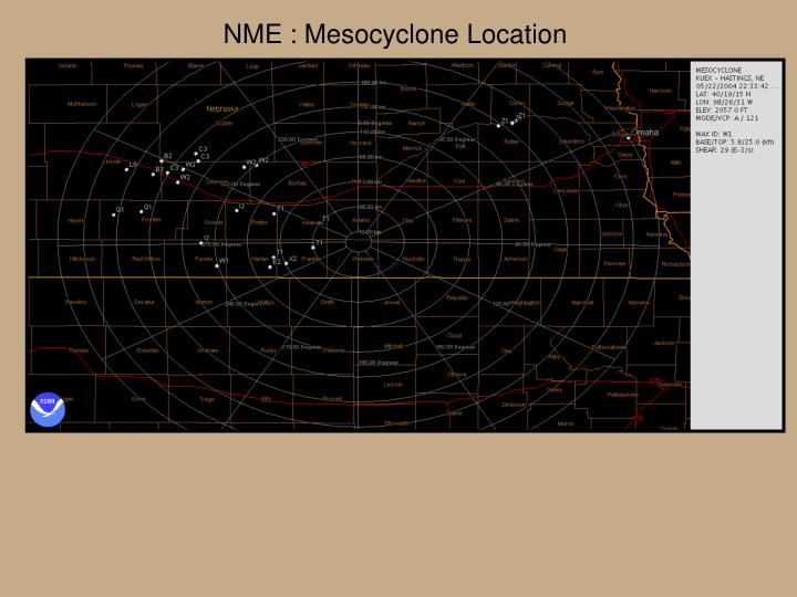 NME : Mesocyclone Location