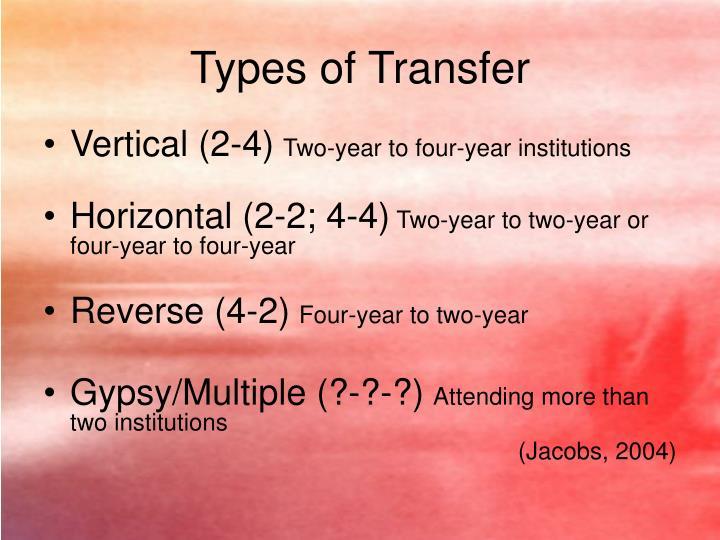 Types of Transfer