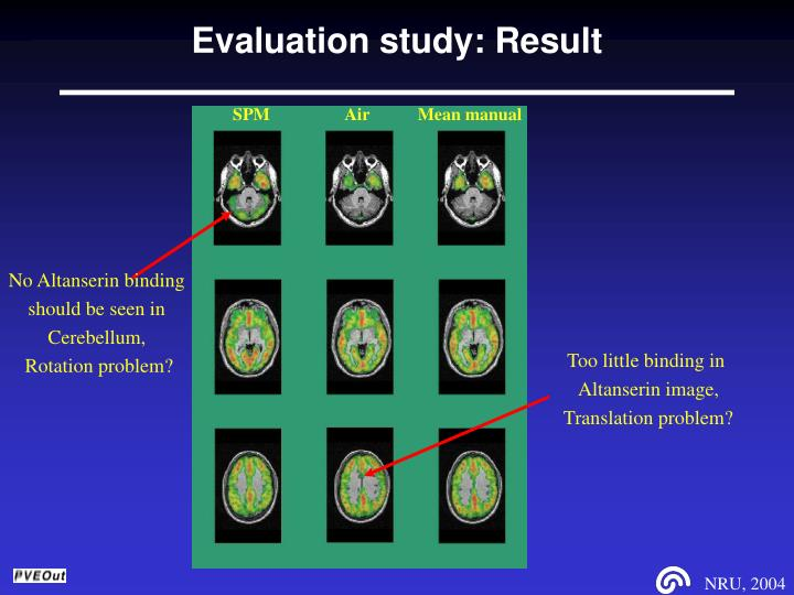 Evaluation study: Result