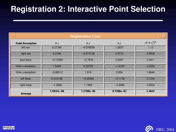 Registration 2: Interactive Point Selection