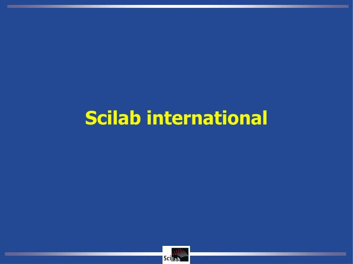 Scilab international