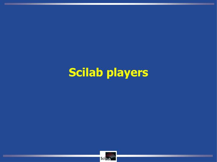 Scilab players
