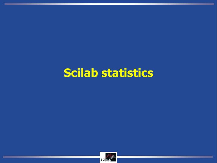 Scilab statistics