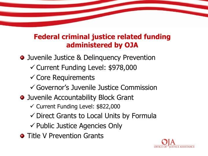 Juvenile Justice & Delinquency Prevention