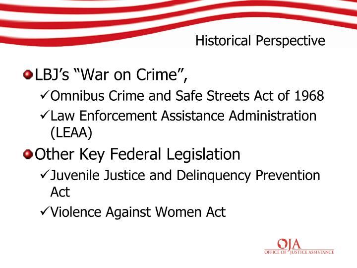 "LBJ's ""War on Crime"","